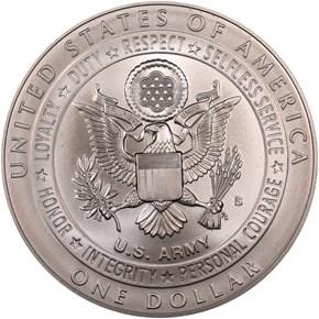 2011 S U.S. ARMY S$1 MS reverse