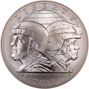 2011 S U.S. ARMY S$1 MS obverse