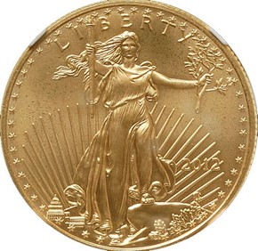2012 EAGLE G$25 MS obverse