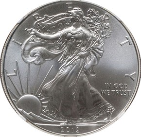 2012 EAGLE S$1 MS obverse