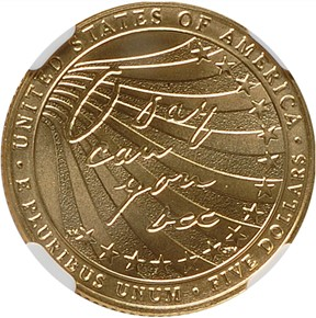 2012 W STAR SPANGLED BANNER $5 MS reverse