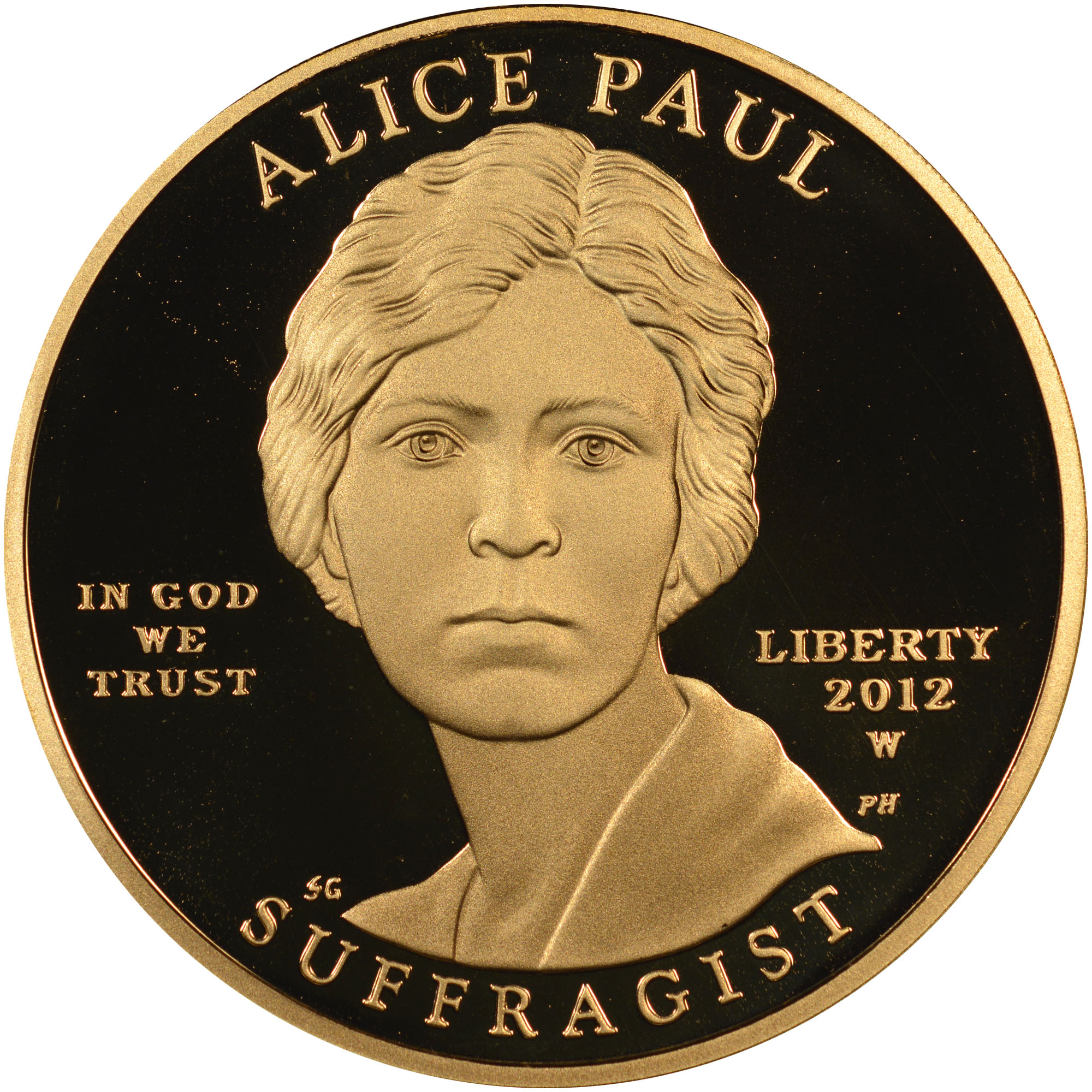 2012 W Alice Paul G 10 Pf Gold First Spouses Ngc