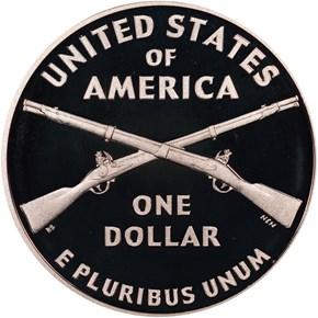 2012 W INFANTRY SOLDIER S$1 PF reverse