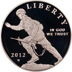 2012 W INFANTRY SOLDIER S$1 PF obverse