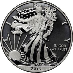 2013 W EAGLE WEST POINT EAGLE SET S$1 SP obverse
