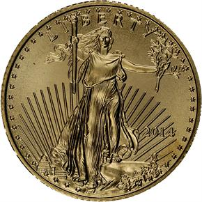2014 EAGLE G$5 MS obverse