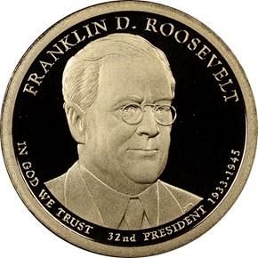 2014 S FRANKLIN ROOSEVELT $1 PF obverse