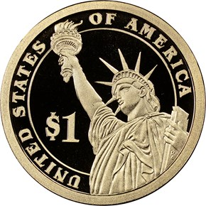 2014 S FRANKLIN ROOSEVELT $1 PF reverse