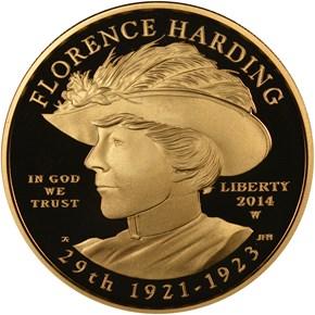 2014 W FLORENCE HARDING G$10 PF obverse