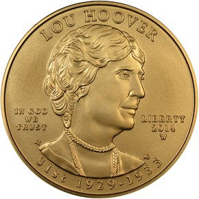 2014 W LOU HOOVER G$10 MS obverse