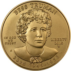 "2015 W ELIZABETH ""BESS"" TRUMAN G$10 MS obverse"