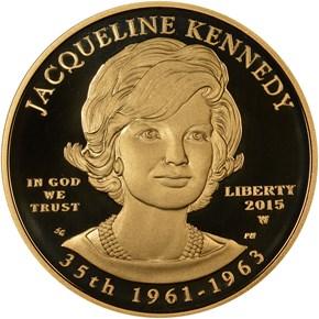 2015 W JACQUELINE KENNEDY G$10 PF obverse