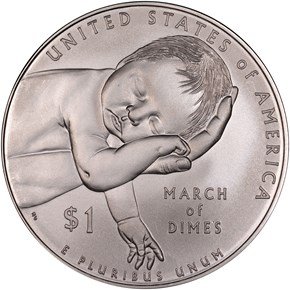 2015 P MARCH OF DIMES S$1 MS reverse