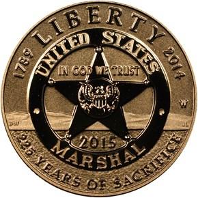 2015 W U.S. MARSHALS SERVICE $5 PF obverse