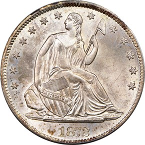 1872 S 50C MS obverse