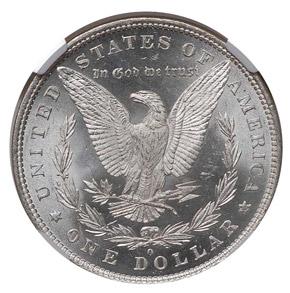 1881 O S$1 MS reverse