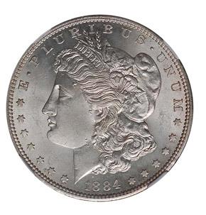 1884 S S$1 MS obverse