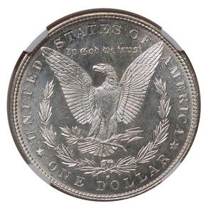 1886 S S$1 MS reverse