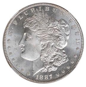 1887/6 TOP-100 VAM-2 $1 MS obverse