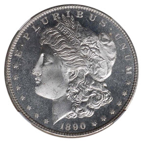 1890 S S$1 MS obverse