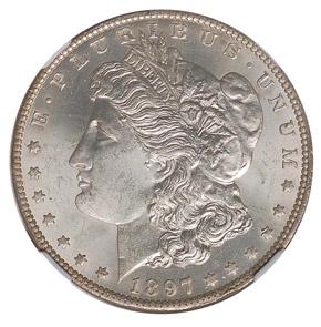 1897 O S$1 MS obverse