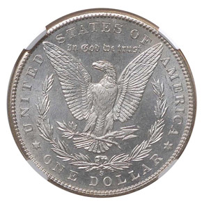 1899 S S$1 MS reverse