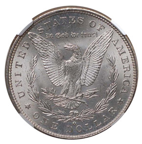 1900 O/CC TOP-100 $1 MS reverse