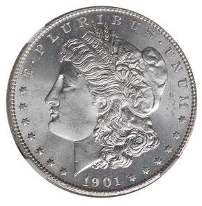 1901 S S$1 MS obverse
