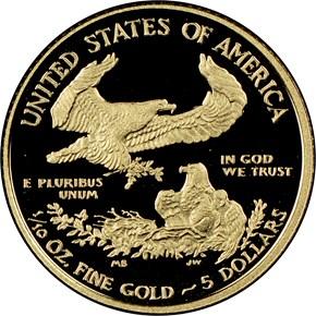 2016 W EAGLE G$5 PF reverse
