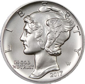 2017 EAGLE HIGH RELIEF Pd$25 MS obverse