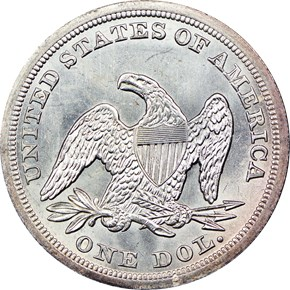 1847 $1 MS reverse