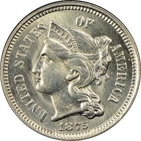 1875 3CN MS obverse