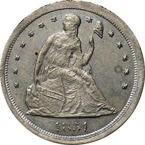 1854 J-157 1C PF obverse