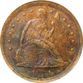 1854 J-159a ELECTROTYPE 1C MS obverse