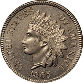 1865 J-406 1C MS obverse