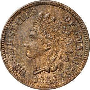 1866 J-455 1C PF obverse