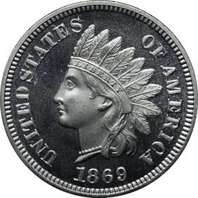 1869 J-671 1C PF obverse