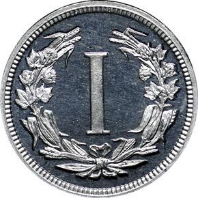 1881 J-1667 1C PF reverse