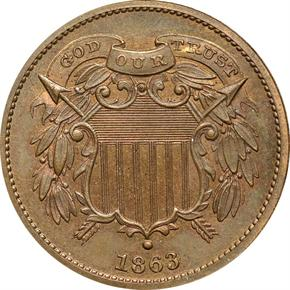 1863 J-312 2C PF obverse