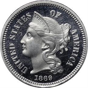 1869 J-679 3CN PF obverse