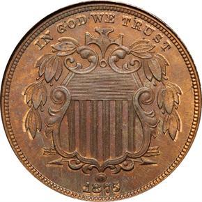 1875 J-1387 5C PF obverse