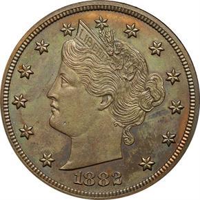 1882 J-1691 5C PF obverse