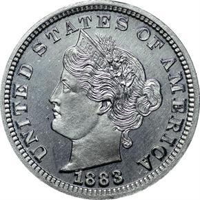1883 J-1706 5C PF obverse