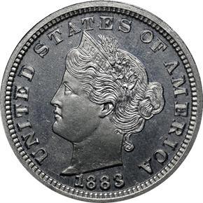 1883 J-1709 5C PF obverse