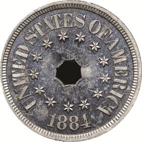 1884 J-1725 5C PF obverse