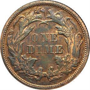 1863 J-333 10C PF reverse