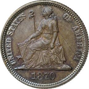1870 J-831 10C PF obverse