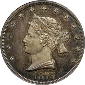 1875 J-1392 20C PF obverse