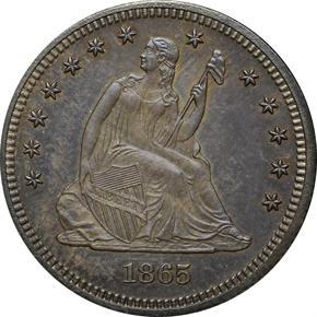 1865 J-423 25C PF obverse