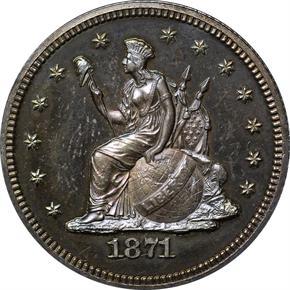 1871 J-1096 25C PF obverse